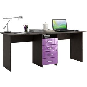 Стол письменный Мастер Тандем-2 глянец (венге-фиолетовый) МСТ-СДТ-02-ВФ-ГЛ