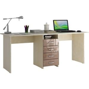 Стол письменный Мастер Тандем-2 глянец (дуб молочный-капучино) МСТ-СДТ-02-МК-ГЛ цены онлайн