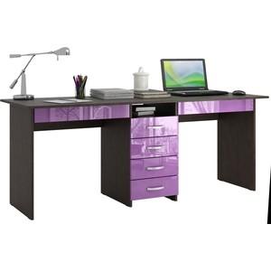 Стол письменный Мастер Тандем-2Я глянец (венге-фиолетовый) МСТ-СДТ-2Я-ВФ-ГЛ