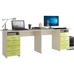 Стол письменный Мастер Тандем-3 глянец (дуб молочный-лайм) МСТ-СДТ-03-МЛ-ГЛ цена