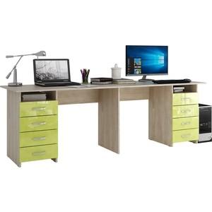 Стол письменный Мастер Тандем-3 глянец (дуб сонома-лайм) МСТ-СДТ-03-СЛ-ГЛ цены