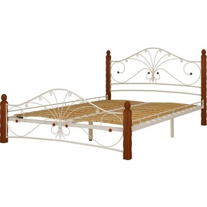 Кровать ГЗМИ Фортуна 1 белый-махагон 160
