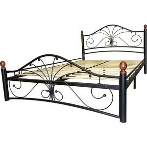Кровать ГЗМИ Фортуна 2 черный-черный 160