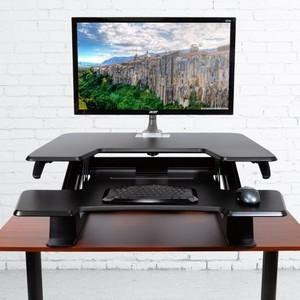 Подставка на компьютерный стол Eureka CV-PRO36B черный