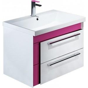 Тумба под раковину IDDIS Color Plus 70 белый/розовый (COL70P0i95)
