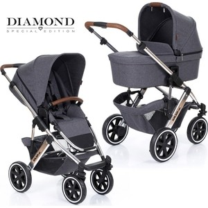Коляска 2 в 1 FD-Design Salsa 4 Air Diamond asphalt 12001061907 коляска для двойни 2 в 1 fd design zoom graphite grey 71284603 91238603