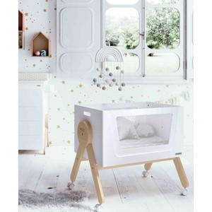 Колыбель Micuna Mini Swing МО-1864 white/waterwood цены онлайн