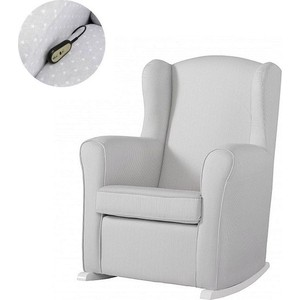 Кресло качалка Micuna Wing/Nanny Relax white/grey искусственная кожа
