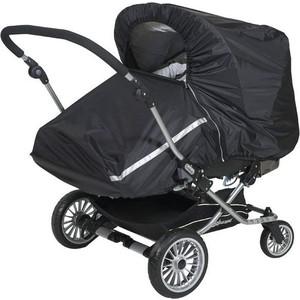 Дождевик для прогулочной коляски двойни Tullsa black (лицом к себе) 40802