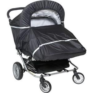 Дождевик для прогулочной коляски двойни Tullsa black (лицом от себя) 44102