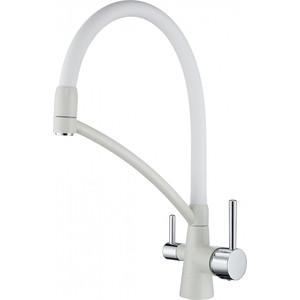 Смеситель для кухни Paulmark Sigen с гибким изливом, белый (Si213111-331) фото