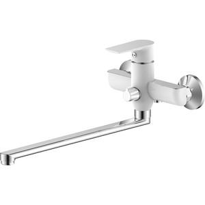 Смеситель для ванны Zenta Бланко с душем, хром/белый (Z2502W)