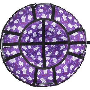 Тюбинг Hubster Люкс Pro Мишки фиолетовые 90 см