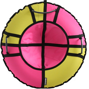 Тюбинг Hubster Хайп желтый-розовый 110 см