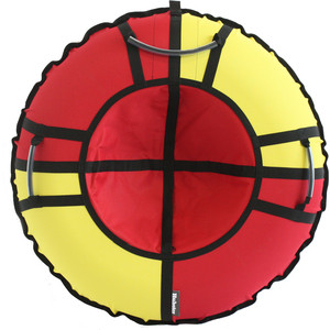 Тюбинг Hubster Хайп красный-желтый 110 см цены онлайн