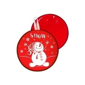 Ледянка RT МТ12217 круглая СНЕГОВИК цвет красный, 40,5см