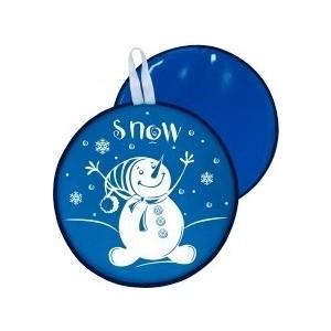 Ледянка RT МТ13217 круглая СНЕГОВИК цвет голубой, 40,5см