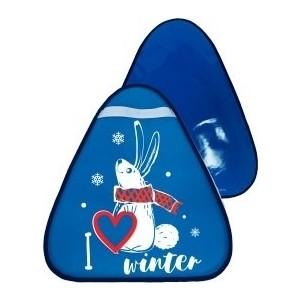 Ледянка RT МТ13517 треугольная ЗАЙЧИК цвет голубой, 42*48см