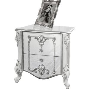 Тумба прикроватная Мэри Дольче Вита СДВ-04 белый глянец с серебром
