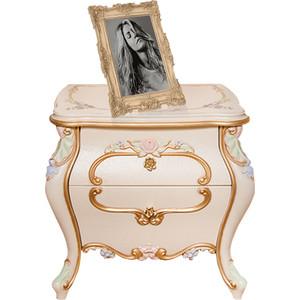Кровать Мэри Людовик СЛ-04 слоновая кость кракелюр, ручная роспись цветными патинами и золотом