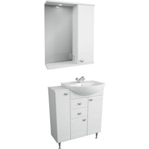 Мебель для ванной Меркана Астурия 75 белая, правая тумба с раковиной меркана астурия 55 белая 35662 1wh110186