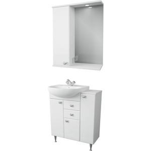 Мебель для ванной Меркана Астурия 70 белая, левая тумба с раковиной меркана астурия 55 белая 35662 1wh110186