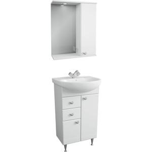 Мебель для ванной Меркана Астурия 55 белая, правая