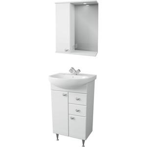 Мебель для ванной Меркана Астурия 55 белая, левая