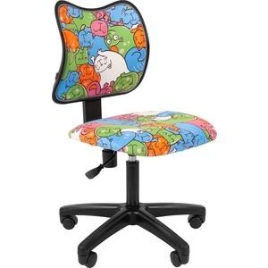 Кресло Chairman Kids 102 ткань котики черный
