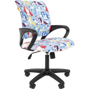 Кресло Chairman Kids 103 ткань единороги черный