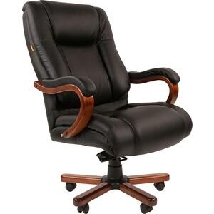 Офисное кресло Chairman 503 кожа черный цена 2017
