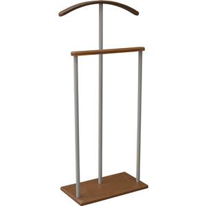 Вешалка костюмная Мебелик Дэви 1 металлик/средне-коричневый