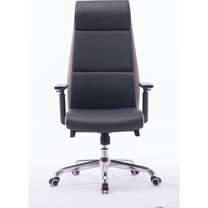 Кресло офисное NORDEN Лондон темно серая+светло серая (вставки) экокожа