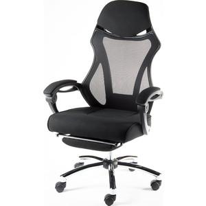 Кресло офисное NORDEN 007 full black/ черный пластик/черная ткань/черная сетка фото