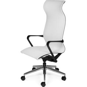 Кресло офисное NORDEN COSMO белая сетка/черный каркас офисное кресло profoffice skin сетка кожа белый черный хром сетка кожа полозья