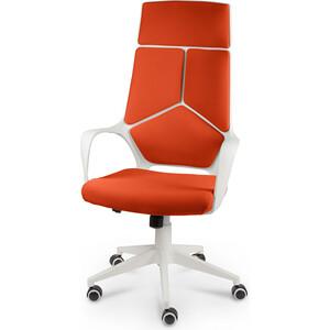 Кресло офисное NORDEN IQ white plastic orange белый пластик/оранжевая ткань