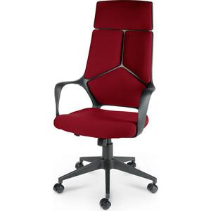 Кресло офисное NORDEN IQ черный пластик/темно-красная ткань