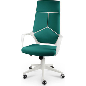 Кресло офисное NORDEN IQ белый пластик/темно-зеленая ткань