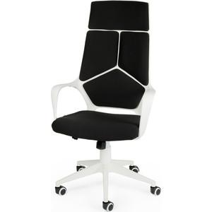 Кресло офисное NORDEN IQ white+black белый пластик/черная ткань