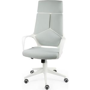 Кресло офисное NORDEN IQ white+grey белый пластик/серая ткань