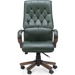 Кресло офисное NORDEN Ботичелли/дерево/зеленая экокожа
