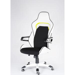 Кресло офисное NORDEN Джокер Z/(black+white) черно-белый пластик/черная ткань/белая экокожа