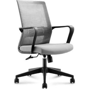 цена на Кресло офисное NORDEN Интер LB/ черный пластик/серая сетка/серая ткань