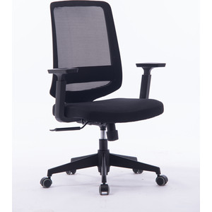 Кресло офисное NORDEN Лондон офис LB/ черный пластик/черная сетка/черная ткань