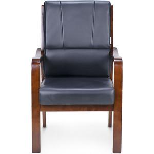 Кресло офисное NORDEN Модер дерево/черная экокожа кресло офисное norden шелби серый пластик черная экокожа оранжевая строчка