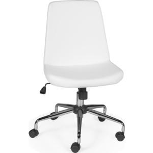 Кресло офисное NORDEN Нео хром/белый полиуретан