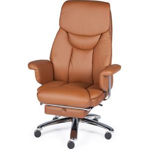 Кресло офисное NORDEN Парламент cappuchino сталь + хром/каппучино экокожа