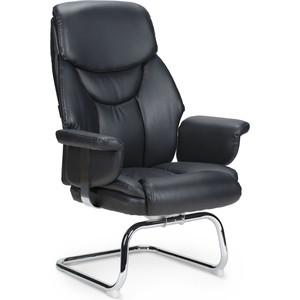 Кресло офисное NORDEN Парламент CF/ (black) конференц хром/черная экокожа