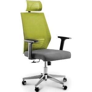 Кресло офисное NORDEN Престиж black/ черный пластик/зеленая сетка/серая ткань офисное кресло profoffice urban mesh пластик ткань черный хром сетка кожа 4 опоры