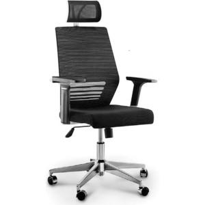 Кресло офисное NORDEN Престиж black/ черный пластик/черная сетка/черная ткань